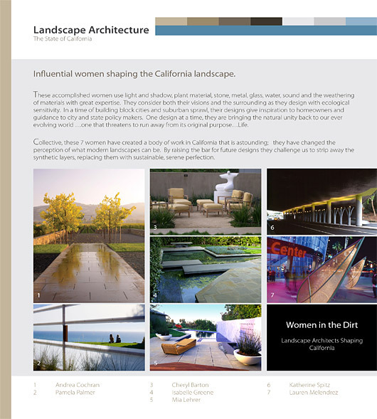Asla honors the top landscape architecture students of 2009 for Female landscape architects