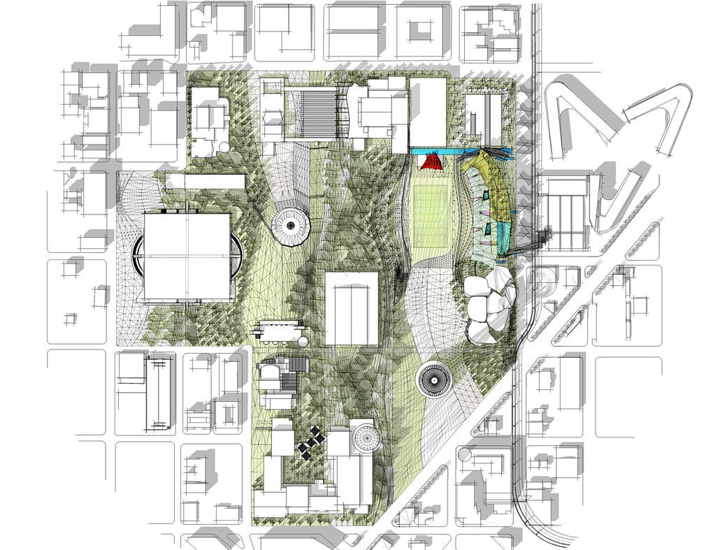 Urban intervention finalist park by koning eizenberg for Site plan architecture