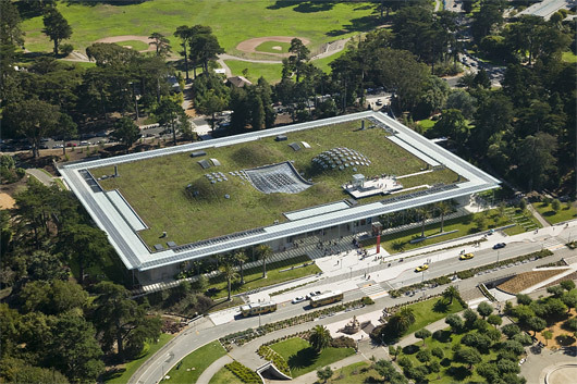 The 25 Acre Living Roof Realizes Central Design Concept Lifting Up A Piece Of Park And Put Building Under