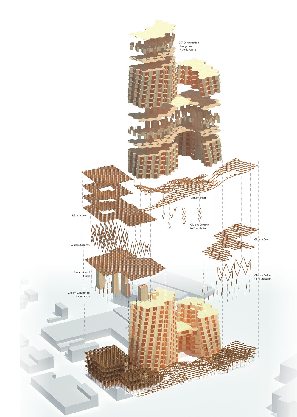 BikeHive by Workshop XZ - Timber in the City competition entry