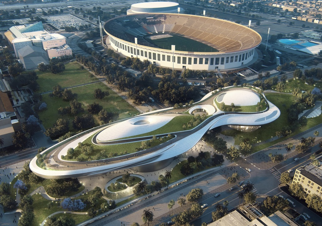 Proposed museum for LAs Exposition Park