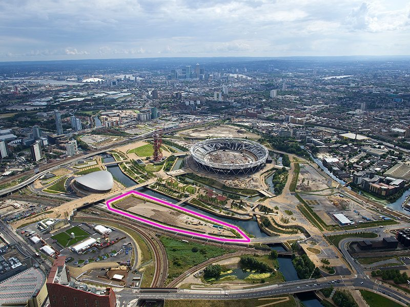 "Aerial view showing the future ""Olympicopolis"" site adjacent to the former Olympic Stadium. (Photo: Kevin Allen/London Legacy Development Corp. (LLDC); Image via smithsonianmag.com)"