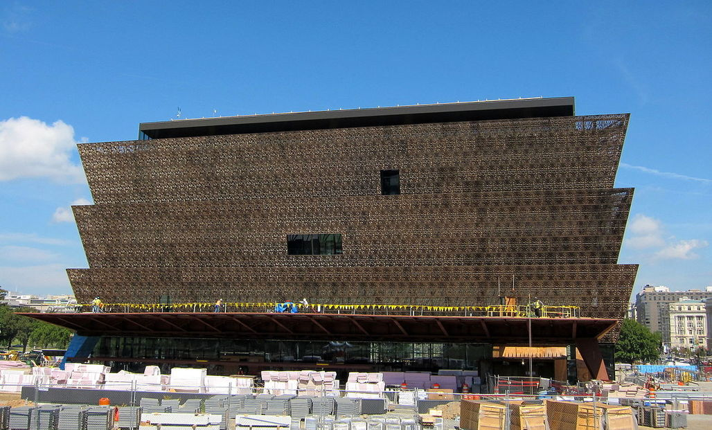 The National Museum of African American History and Culture under construction. Image via wikimedia.org