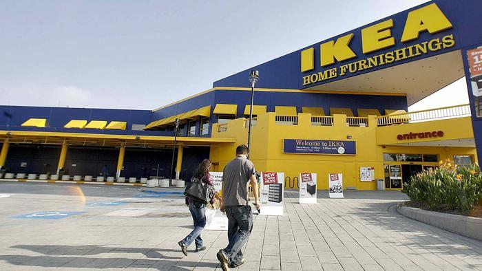 Shoppers head into the Ikea store on North San Fernando Road in Burbank. (Raul Roa / Los Angeles Times)