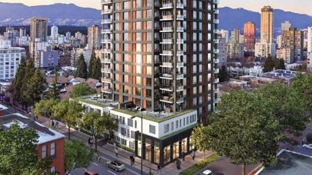 Plans for the new building include 28 units of social housing and 63 condominiums. Image: West End Neighbours, via cbc.ca