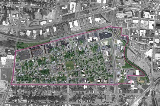 Map of the Near Westside neighborhood in Syracuse, NY