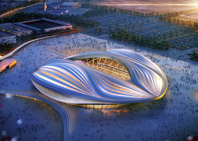 Zaha Hadid said in a recent The Times interview that the issue of appalling labor rights violations in Qatar does not apply to the construction site of the ZHA-designed Al Wakrah World Cup Stadium.