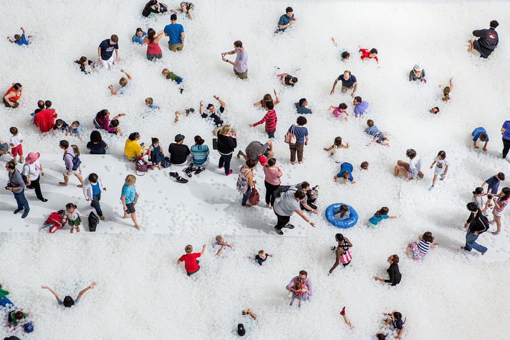 Snarkitectures BEACH installation at the National Building Museum. Photo by Noah Kalina.