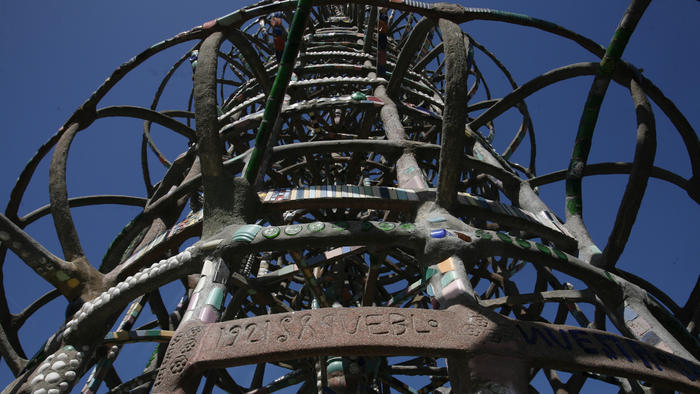 Just blocks from the iconic Watts Towers, a detail of which is seen here, architect Frank Gehry will design a community center for Childrens Institute Inc. (Bob Chamberlin / Los Angeles Times)
