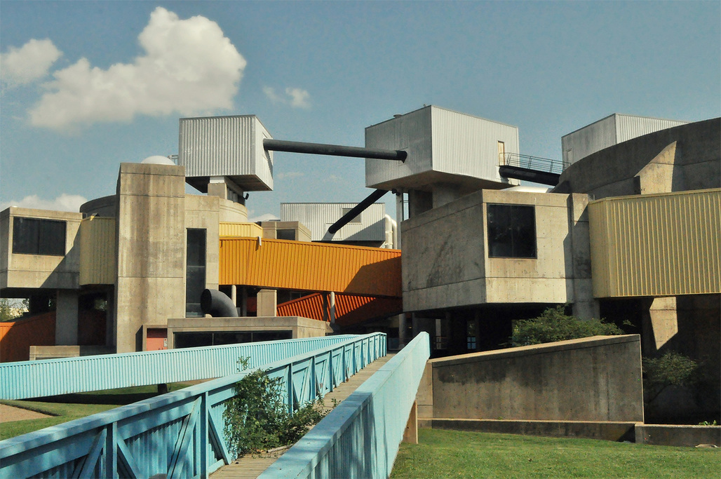 Oklahoma Citys Mummers Theater, designed by Harvard Five John M. Johansen, shared the fate of a variety of brutalist buildings that did not survive 2015. (Image via okcmod.com)