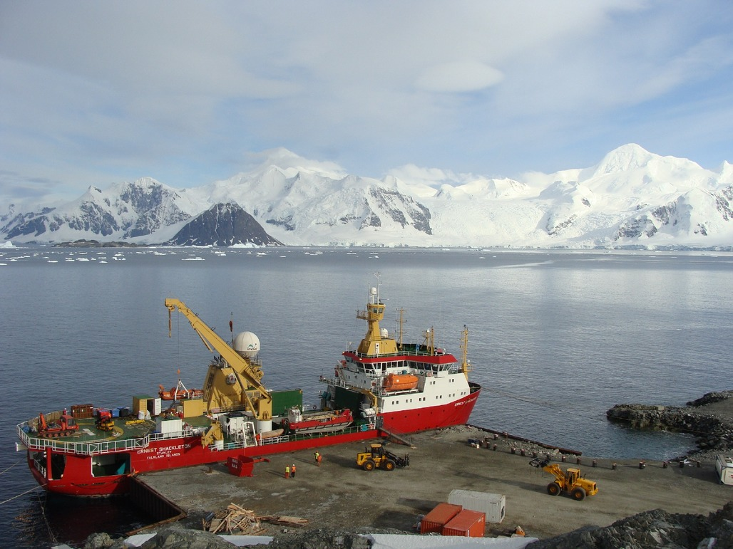 """Redeveloping the wharf at the BAS Rothera Research Station on the Antarctic Peninsula will be one of the first projects to be undertaken to accommodate the new state-of-the-art polar research vessel RRS Sir David Attenborough (a.k.a. <a href=""""http://www.bbc.com/news/uk-36225652"""">""""BoatyMcBoatface""""</a>). Image via bas.ac.uk."""