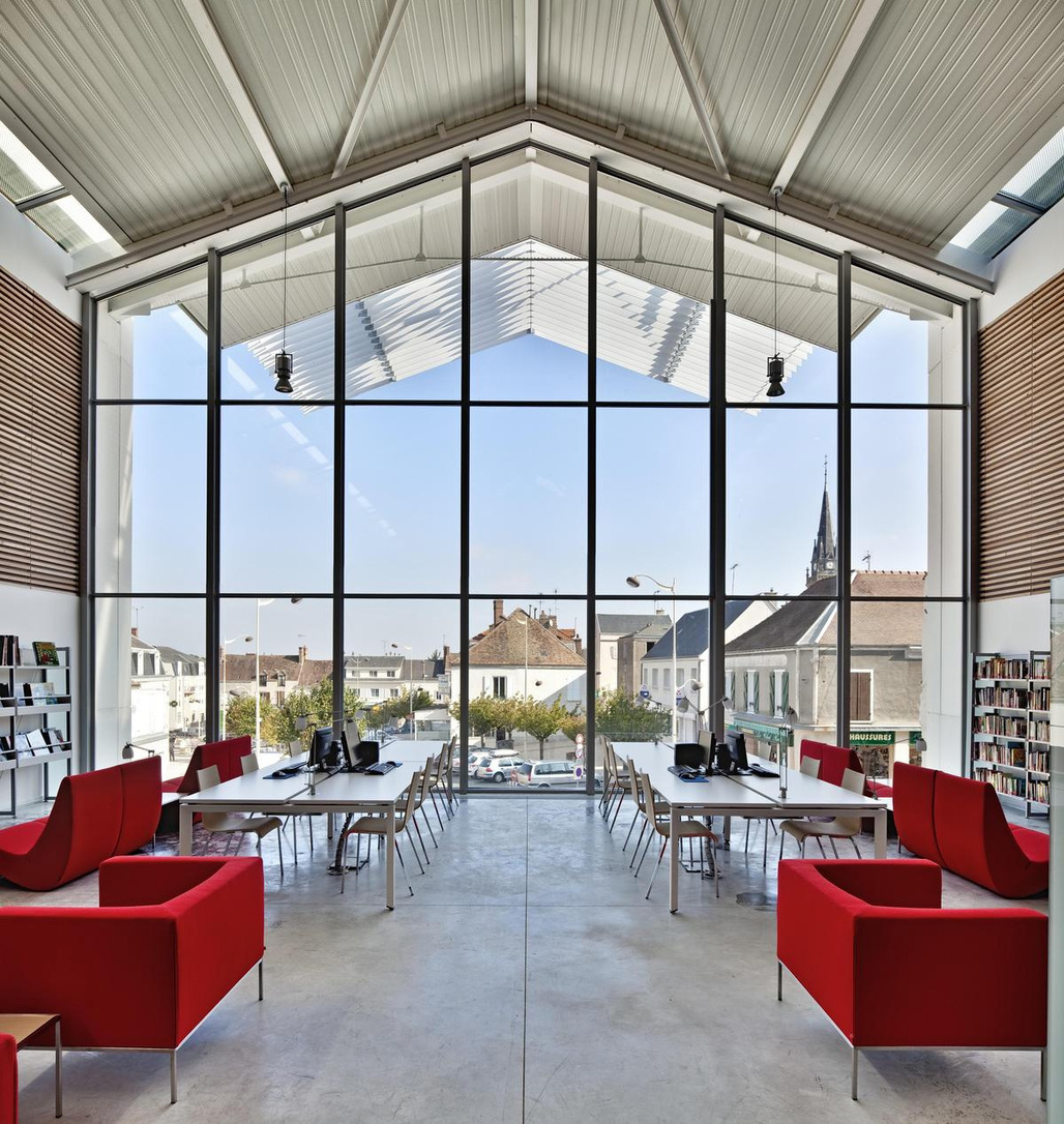 Cultural Center in Auneau, France by Architecture Patrick Mauger; Photo: Denance
