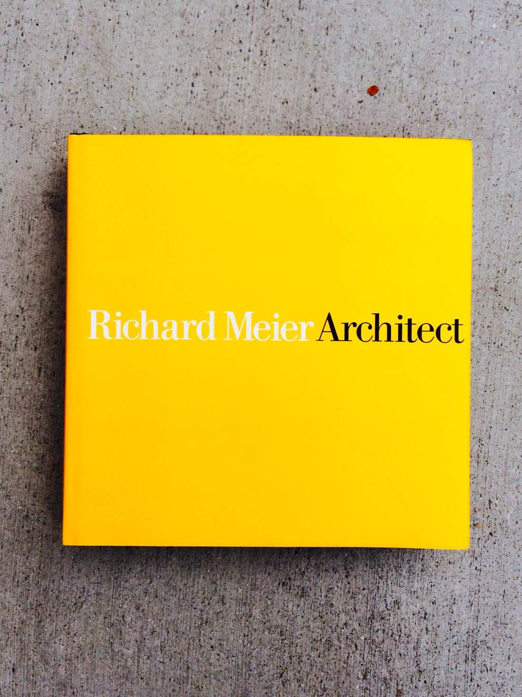 © Richard Meier Architect: Volume 6 by Richard Meier, Rizzoli New York, 2014. Photo by author.