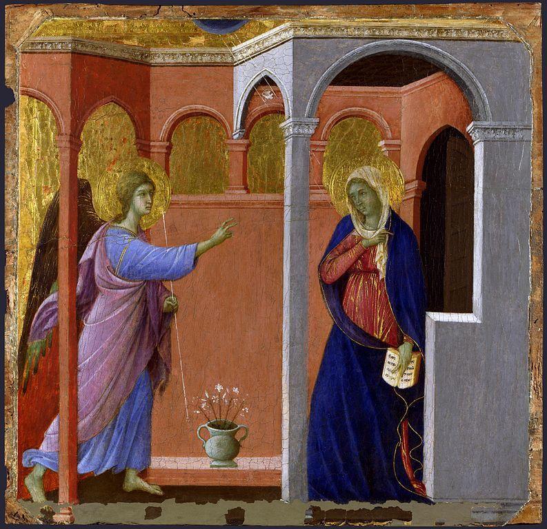 The Annunciation (1307/08-11) by Duccio