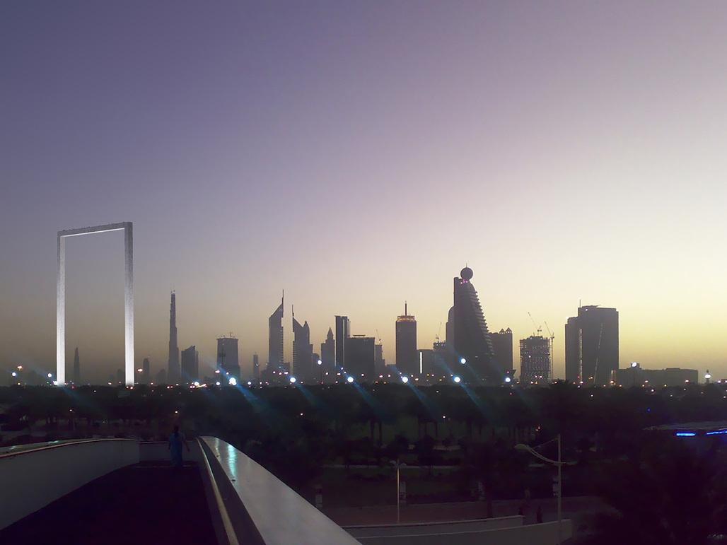 Fernando Donis' original winning design of the Dubai Frame. Image courtesy of Fernando Donis.