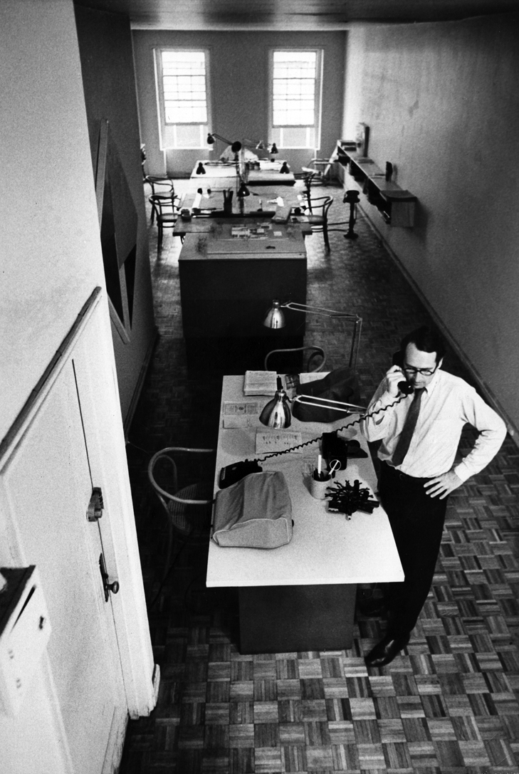 Richard Meier Portrait at his office on 56 East 53rd Street - Richard Meier & Partners Architects