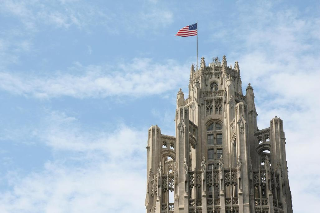 Aaaand sold.—Close-up of Chicagos 1925 landmark Tribune Tower. (Image via Flickr Creative Commons/ManoRegejimas)