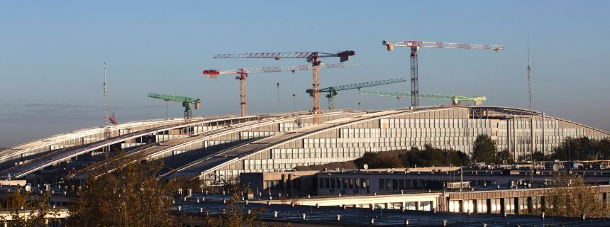 The new NATO headquarters under construction in Brussels. (Spiegel/REUTERS)