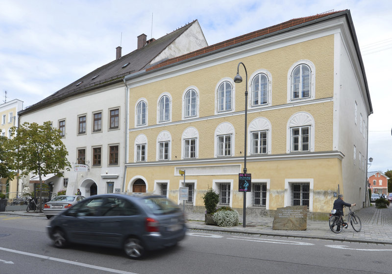 Adolf Hitlers birth house in Braunau am Inn, Austria. Kerstin Joensson/AP