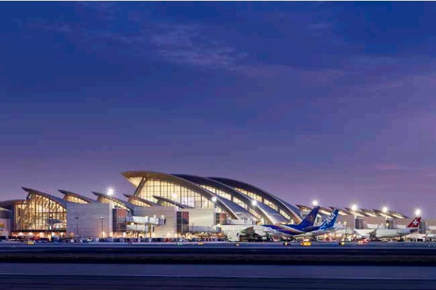 The new Tom Bradley International Terminal at LAX. Credit: Nick Merrick © Hedrich Blessing