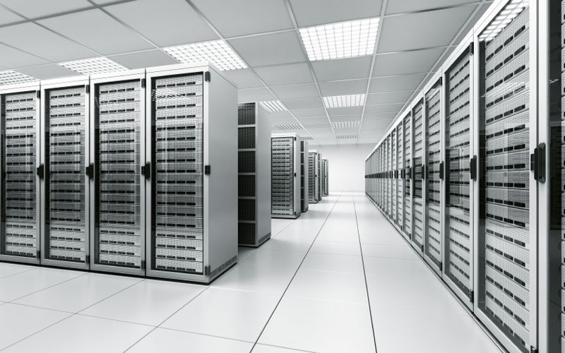 """""""Often people think of [data centers] as almost like cathedrals of servers. Very clean computer equipment, white walls and things—the reality is, these are factories,"""" states Tate Cantrell, CTO of the data-center company Verne Global, in this article by Ingrid Burrington. Credit: Wikipedia"""