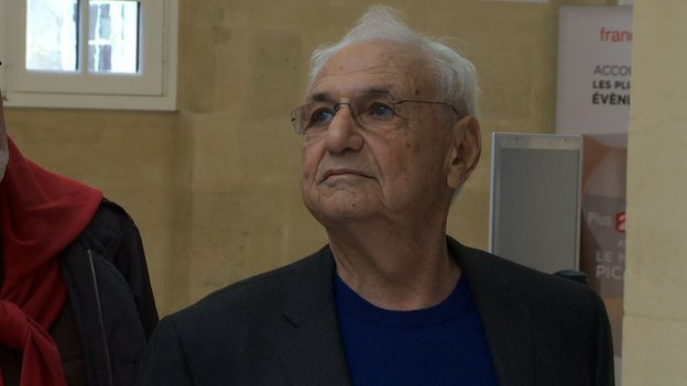 Frank Gehry at the Picasso Museum in Paris, via bbc.com