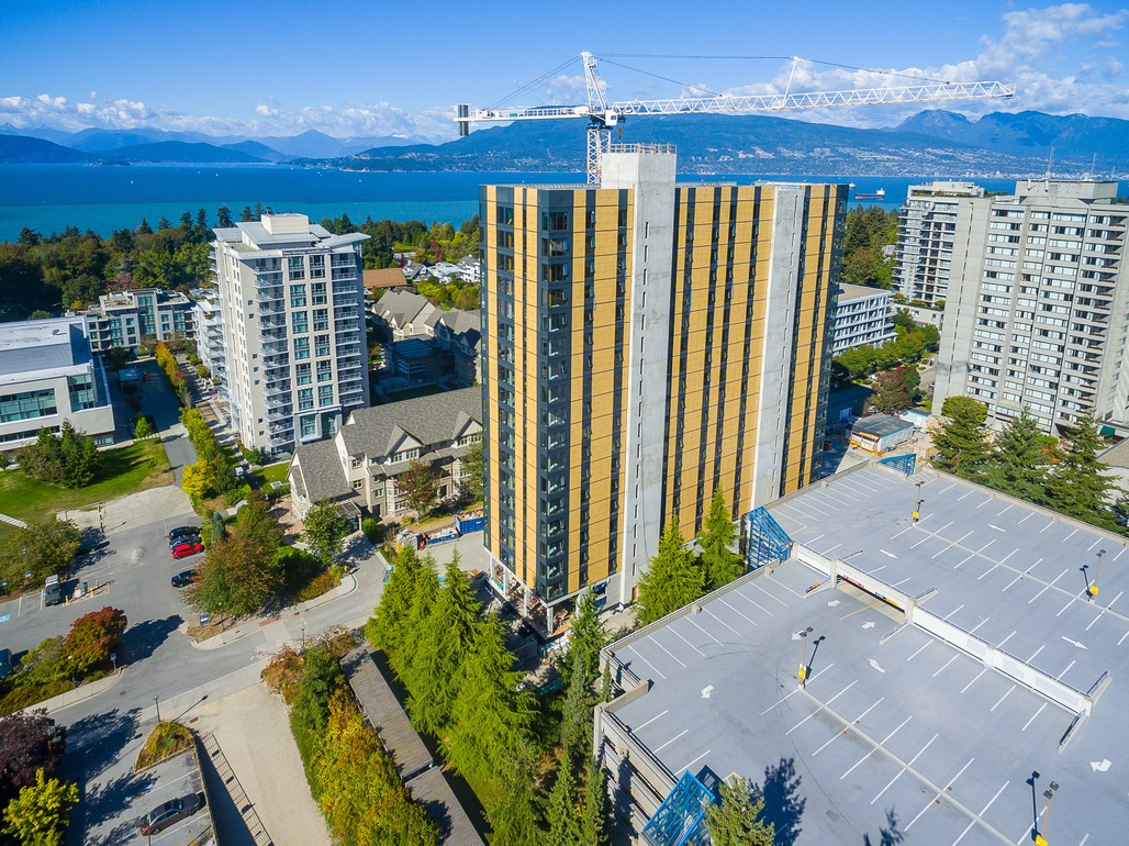 Brock Commons, the worlds tallest wood building. Credit: University of British Columbia, Vancouver