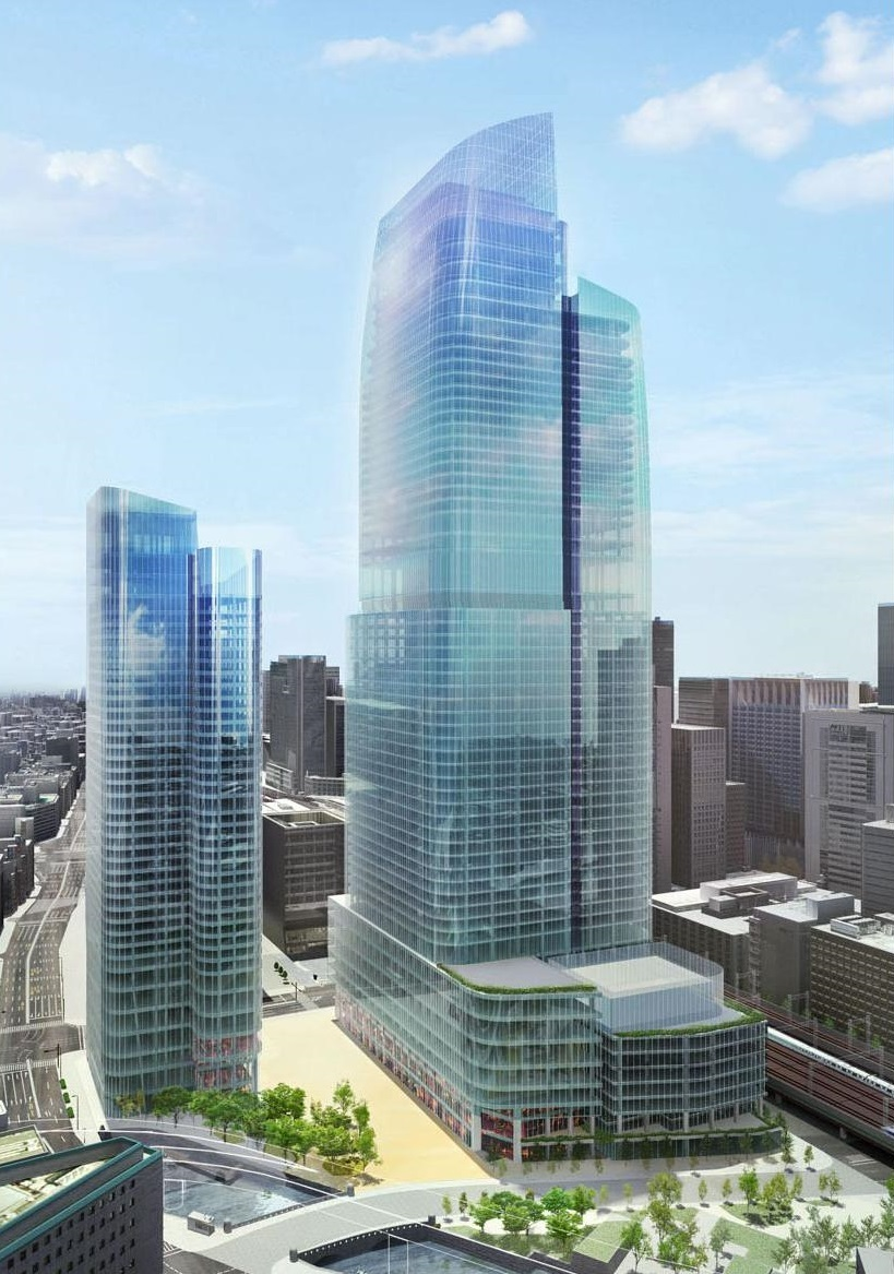 Rendering of the massive Tokiwabashi District Redevelopment Project near Tokyo Station that was announced today. (Image: Mitsubishi Estate Co.)