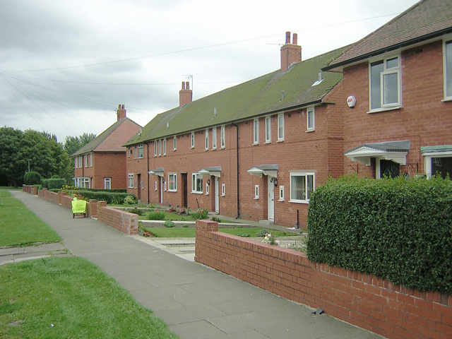 The utopian aspirations of council housing have been slowly dismantled over the last century, with the governments new housing scheme threatening to be its death-knell. Image via geograph.org.uk