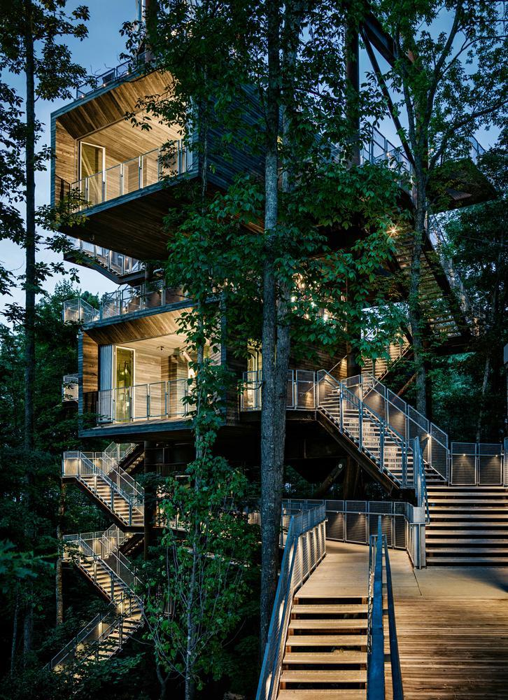 AIA announces the 2014 COTE Top Ten Green Projects. Sustainability Treehouse; Glen Jean, West Virginia Design Architect: Mithun; Executive Architect/Architect of Record: BNIM. Photo Credit: Joe Fletcher