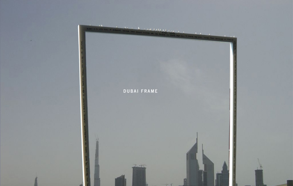 Fernando Donis original concept for the Dubai Frame project (image via donis.org)