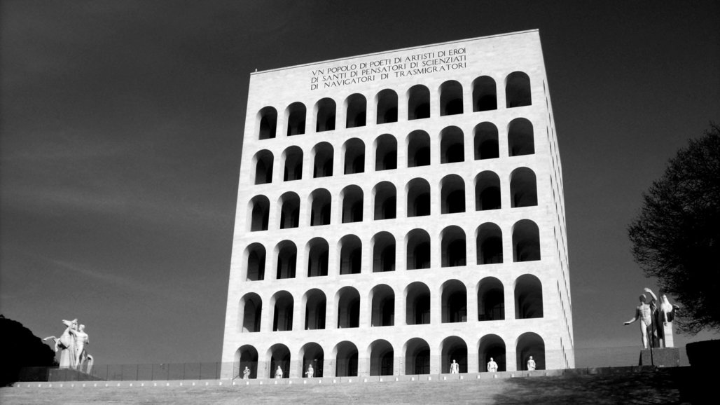 The EUR building in Rome remains one of the most iconic buildings from Fascist Italy. Image via wikimedia.org