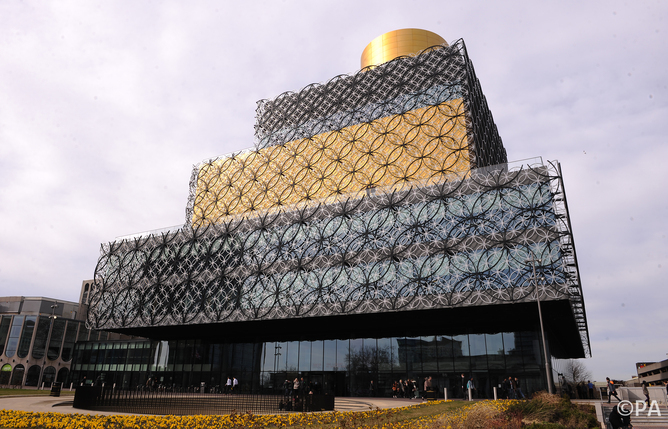Birmingham Library is one of the shortlisted buildings. Joe Giddens/PA Archive, via theconversation.com