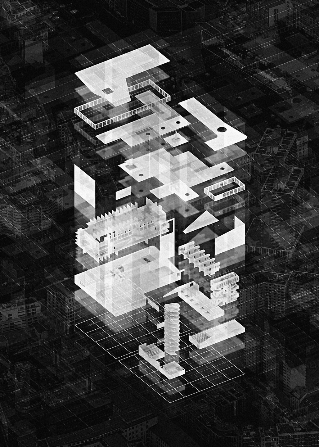 2015 RIBA Presidents Medals Students Awards - SILVER MEDAL (best design project at Part 2): Finn Wilkie - The Mackintosh School of Architecture at The Glasgow School of Art. | Project: 'The Heteroglossic City: A polemic against critical reconstruction in Berlin'.