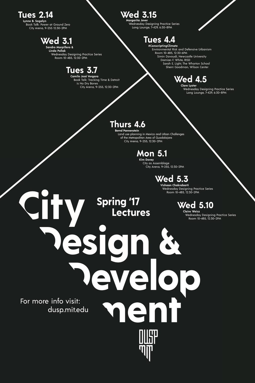 Poster design by Sonny Oram. Courtesy of MIT DUSP.