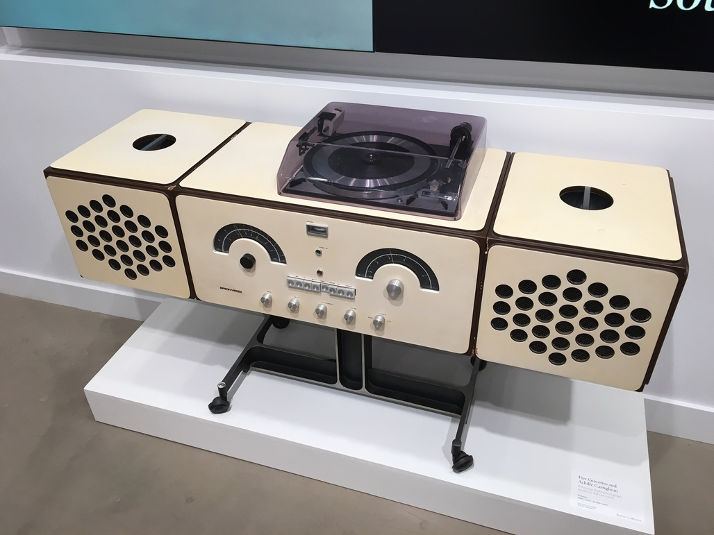 The achingly cool Achille and Pier Giacomo Castiglioni Radio Phonograph, photographed during one of its public viewing days in Los Angeles in September. Image: Julia Ingalls