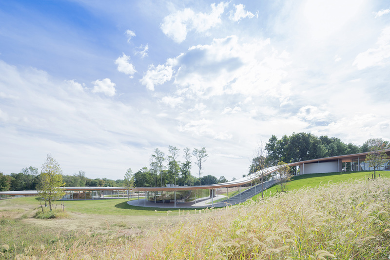 "Grace Farms ""River"" building designed by SANAA. Photo © Iwan Baan."