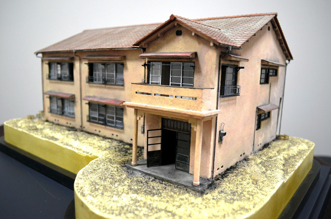 Model of the original Tokiwaso building which was demolished in 1982. The opening of the rebuilt facility is scheduled for March 2020, just ahead of the Tokyo Olympics and Paralympics. (Photo: Tomohide Yamada; Image via asahi.com)