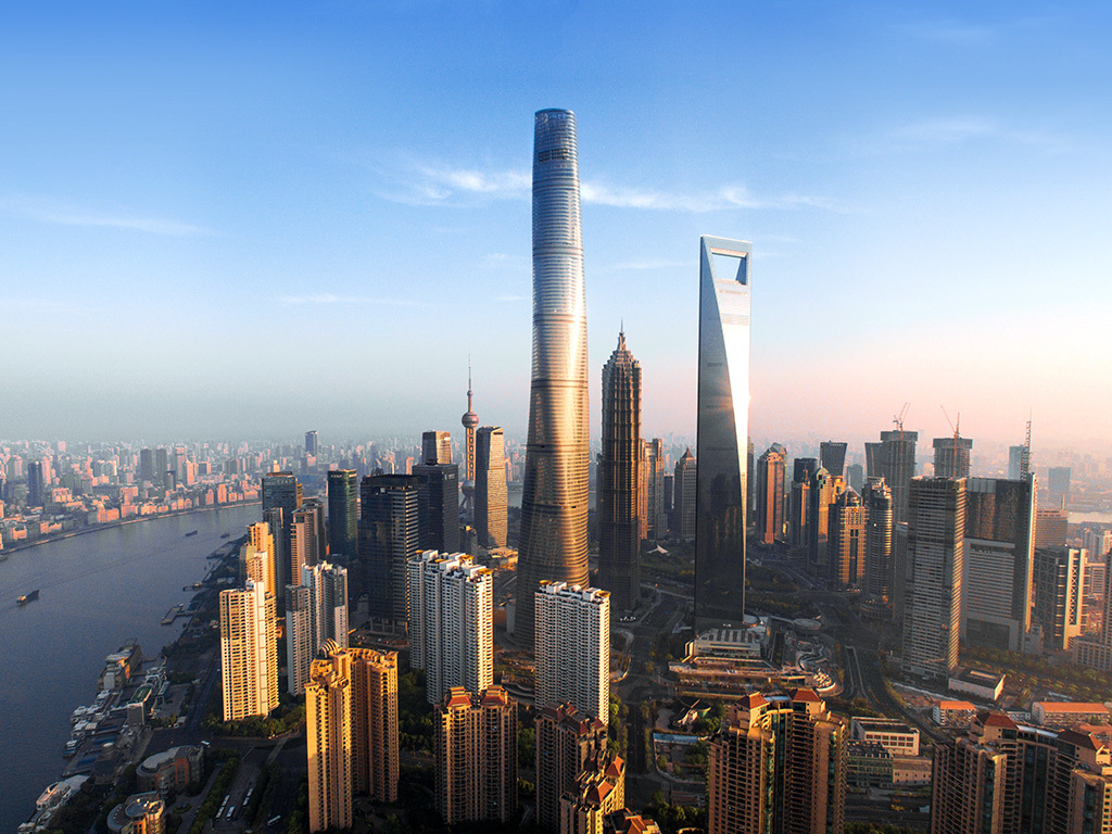 The recently completed and at 632 m/2,073 ft now the worlds second-tallest building: Shanghai Tower. (Image: Gensler)