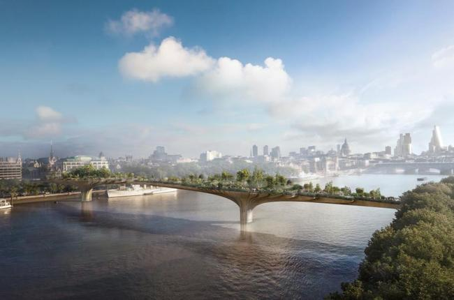 The privately funded project that costs the public so much: Londons Garden Bridge proposal. (Image: Heatherwick studio)
