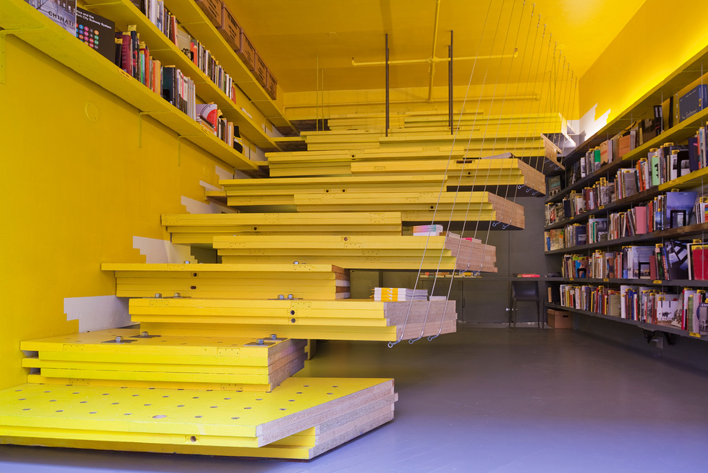 Current situation at Van Alen Books, New York Citys Architecture and Design Bookstore. Photo: Danny Bright