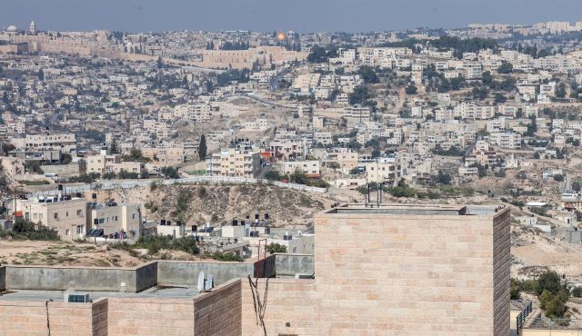 The East Jerusalem neighborhood of Jabal Mukkaber, seen from the new Jewish neighborhood of Nof Zion. Photo by Eyal Toueg