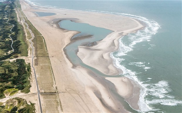 Twenty million cubic metres of sand was used to build the Sand Engine flood defence (The Telegraph)