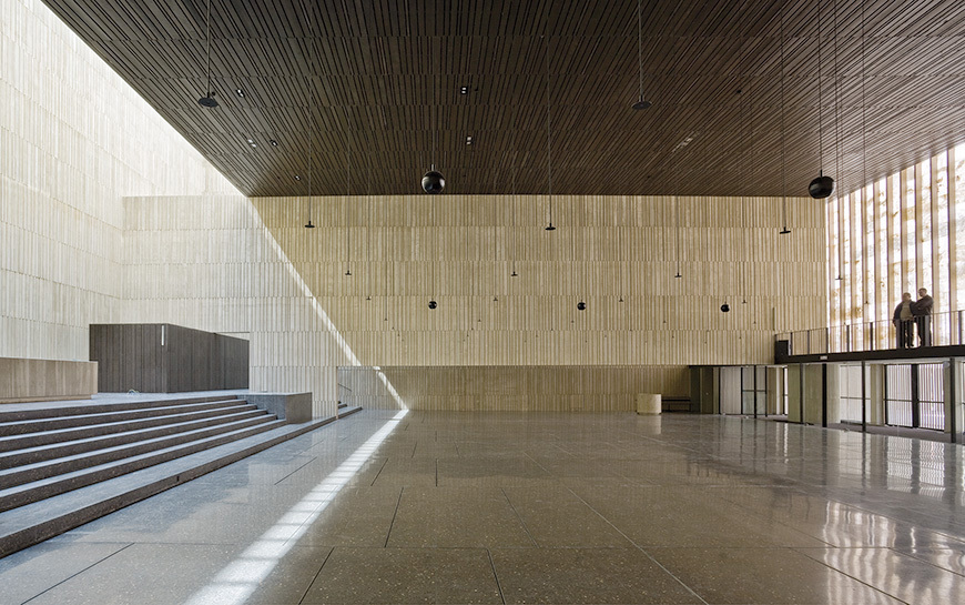Religious Architecture, New Facilities - Honor: Tabuenca & Leache, Arquitectos - St. George Church and Parish Center in Pamplona, Navarra, Spain. Image courtesy of 2013 Faith & Form/IFRAA Awards Program.