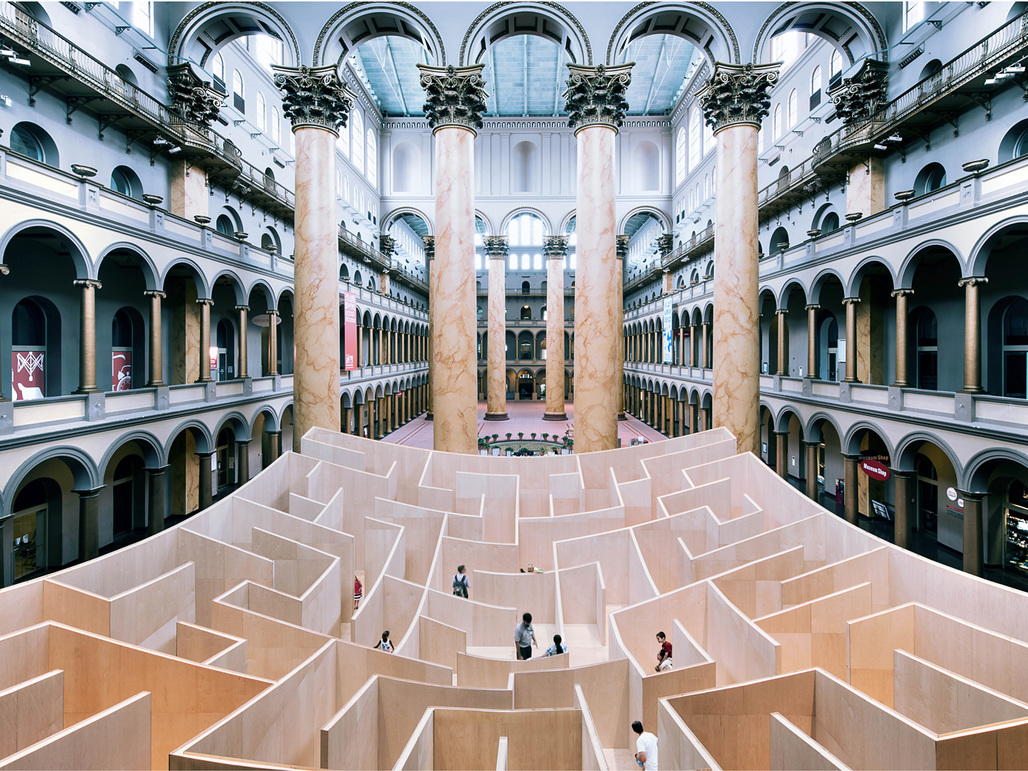 The BIG Maze at the National Building Museums Great Hall. Photo by Kevin Allen