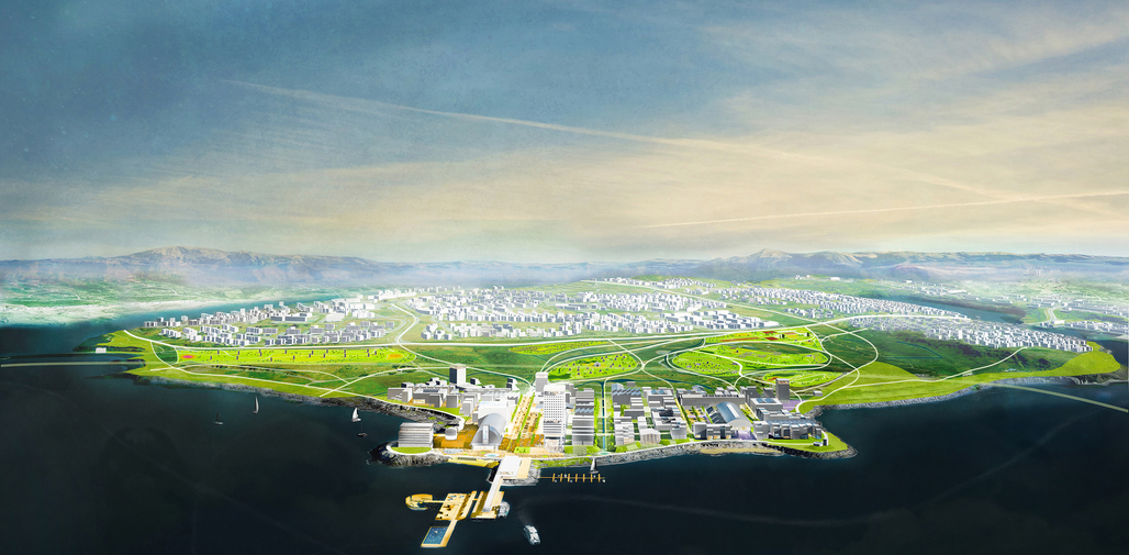 Gufunes is proposed to become a condensed urban fabric, in contrast to the existing suburbs