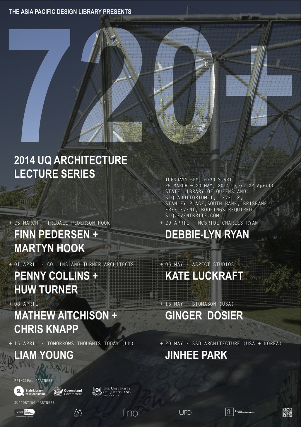 720+ Lecture Series from the University of Queensland, School of Architecture. Courtesy of UQ School of Architecture