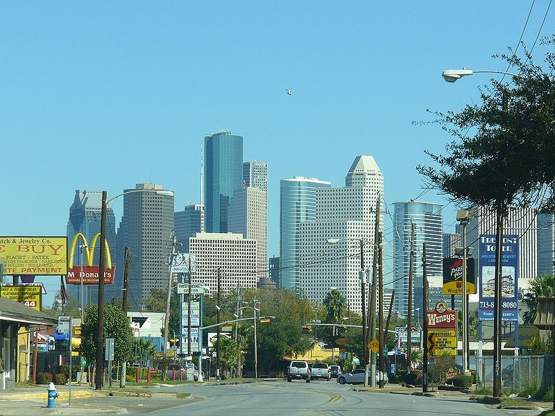 Houston leaders have proposed putting the city's wide-open streets on a diet. (Streetsblog Network; Photo: Wikipedia)