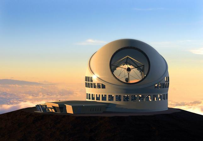 Rendering of the controversial 18-story TMT observatory on the Big Islands Mount Mauna Kea which Native Hawaiians consider sacred.
