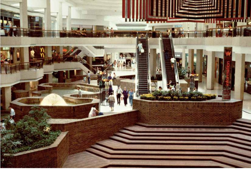 "1980s mall shot from Michael Galinskys ""Malls Across America"", image via New Republic."